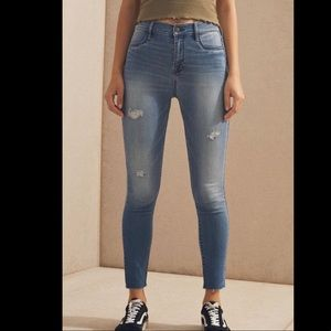 Pacsun High rise ankle jegging Allan wash